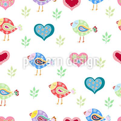 Vögel und Herzen Rapport