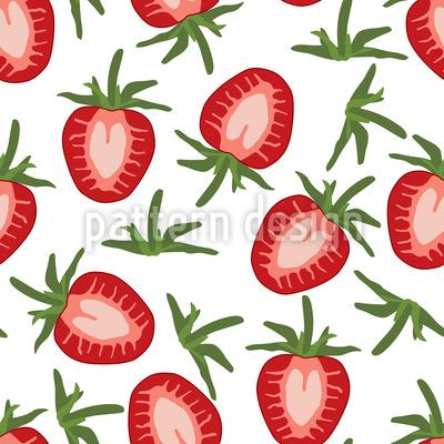 Leckere Süße Erdbeeren Vektor Ornament
