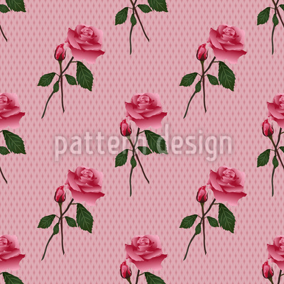 Pink Roses Seamless Vector Pattern
