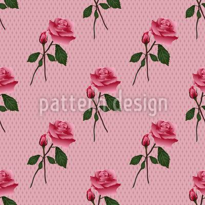 Pinke Rosen Nahtloses Vektor Muster