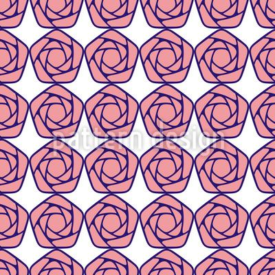 Geometrische Blüten Vektor Design