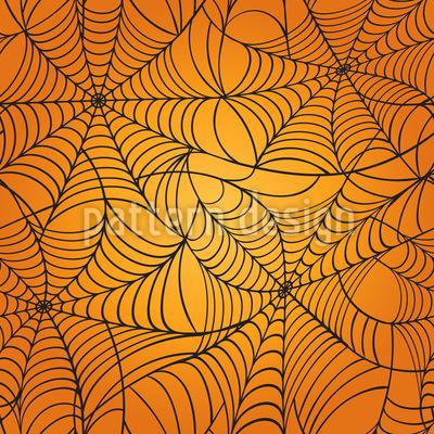 Grusel Spinnennetz Designmuster