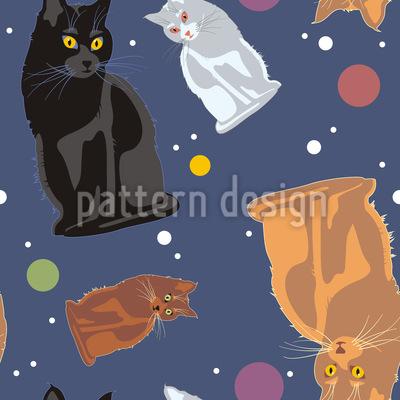 Weltraum Katzen Designmuster