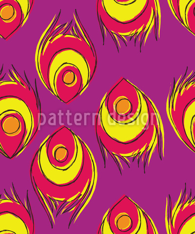Fiery Peacock Feathers Vector Design