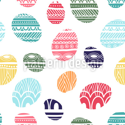 Knitted Easter Eggs Pattern Design