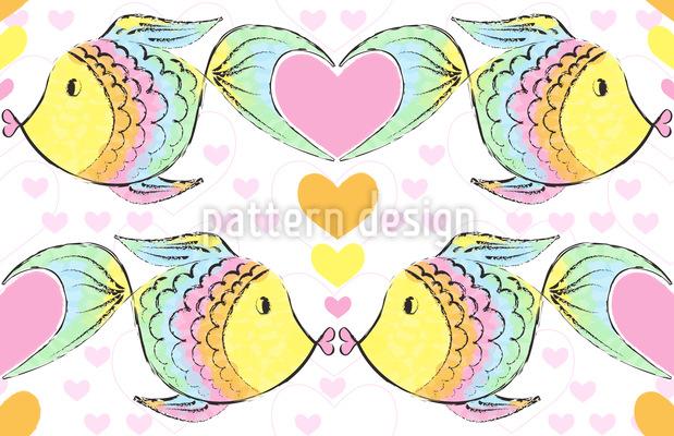Kissing Fish Repeat Pattern