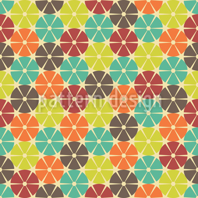 The Wheels Are Turning Seamless Pattern
