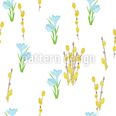 Easter Bloom Repeating Pattern