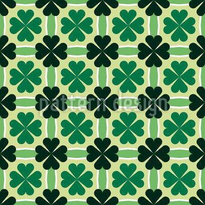 Kleeblätter und Streifen Musterdesign