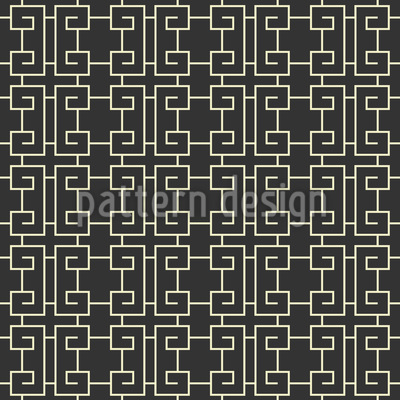 Chinese Fence Seamless Vector Pattern