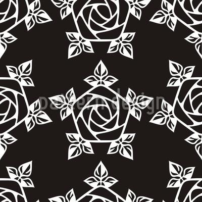 Mittelalterliche Rose Vektor Muster