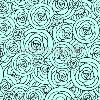 Roses On Plates Pattern Design