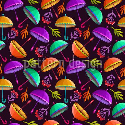 Fliegende Regenschirme Vektor Muster