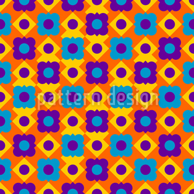 Blumen auf Quadraten Vektor Design