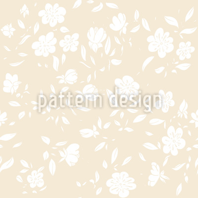 Romantic Vintage Blossom Vector Ornament