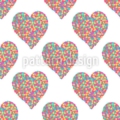 Herzen Aus Punkten Vektor Muster