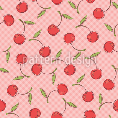 Pretty Cherries Seamless Pattern