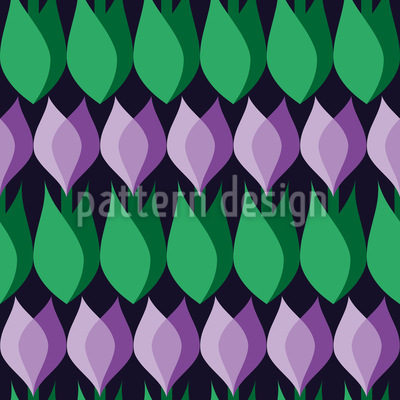 Crocus Seamless Pattern