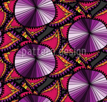 Oriental Flower Doodle Seamless Pattern