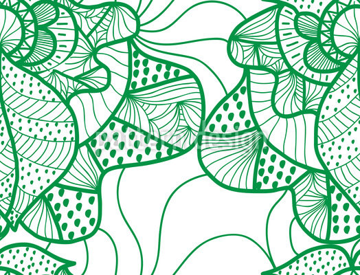 Dreaming Of Spring Seamless Vector Pattern