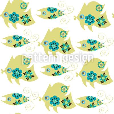 Niedliche Fische Vektor Muster