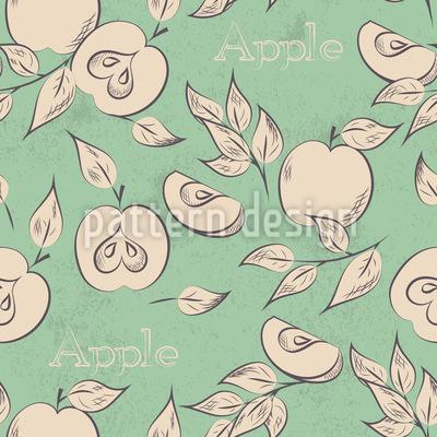 Südliche Äpfel Rapportiertes Design