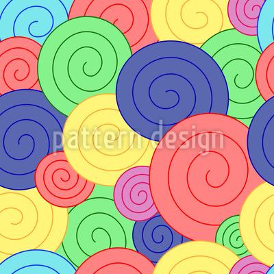 Fruchtgummi Kringel Muster Design