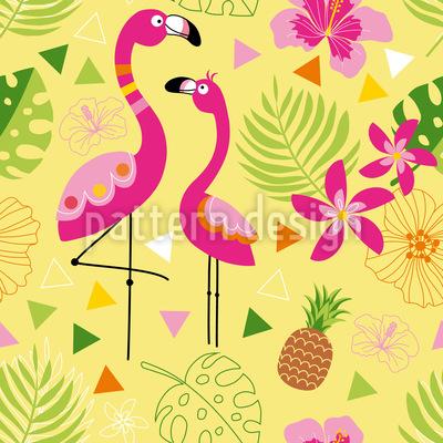 Flamingo Paradies Vektor Design