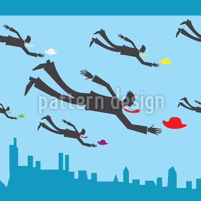 Fliegende Geschäftsmänner Designmuster