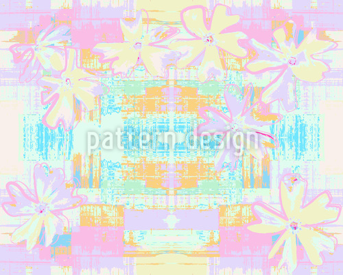 Cosmic Floret Seamless Pattern