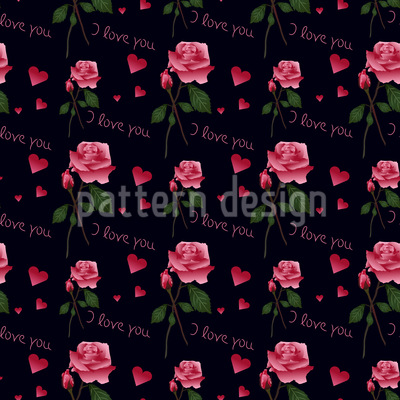 Rose Love Confession Repeat Pattern