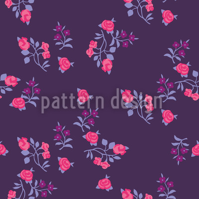 Streublumen Auf Lila Nahtloses Muster
