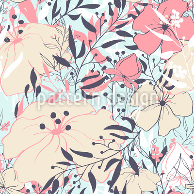 Vintage Flower Splendor Vector Ornament