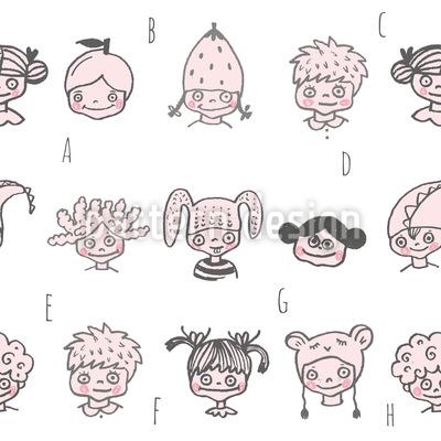 Kinder Alphabet Designmuster