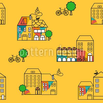 Sonnige Stadt Designmuster