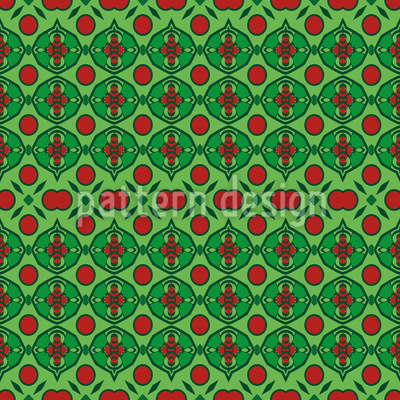 Embellished Dots Seamless Vector Pattern