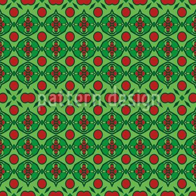 Verzierte Punkte Nahtloses Vektor Muster