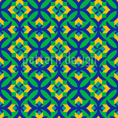 Floral Facets Vector Pattern