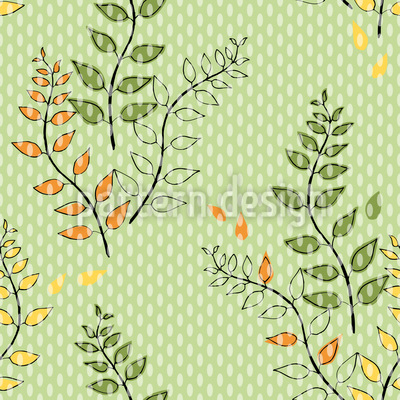 Grüne Zweige Rapportiertes Design