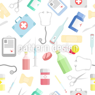 Take Care Vector Pattern