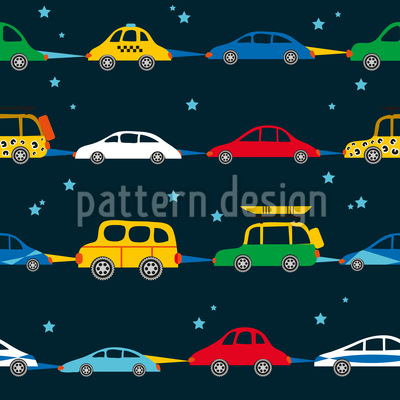 Travellers In The Night Seamless Pattern