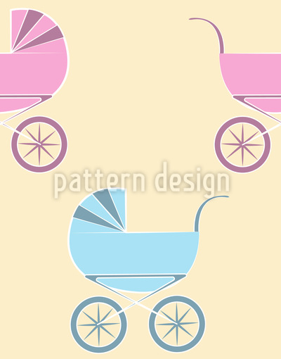 Baby Carriage Repeat Pattern