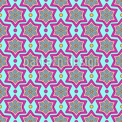 Orientalisches Starlet Nahtloses Vektor Muster