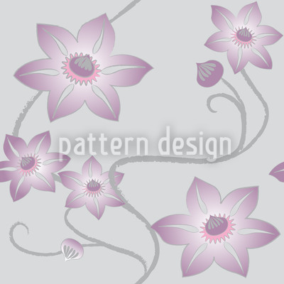 Gentle Clematis Design Pattern