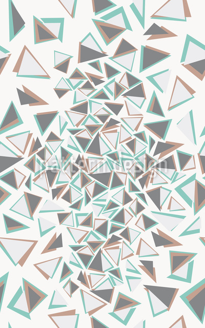 Triangle Chaos Vector Pattern