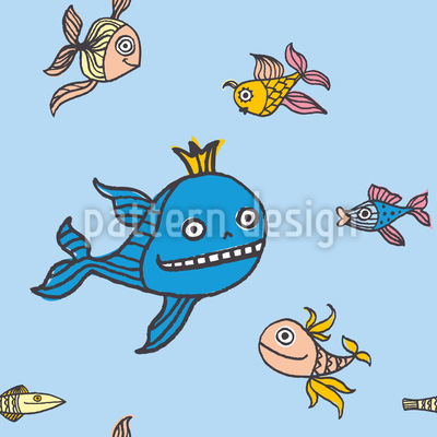 Fish Story Pattern Design