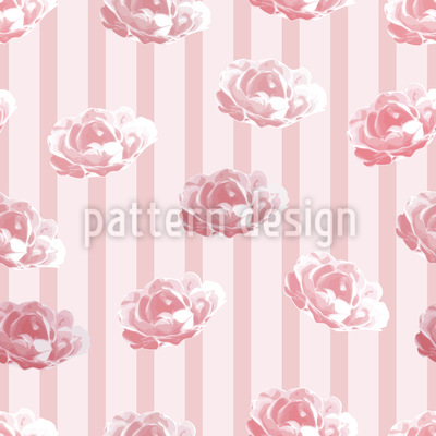 Cottage Roses Repeating Pattern