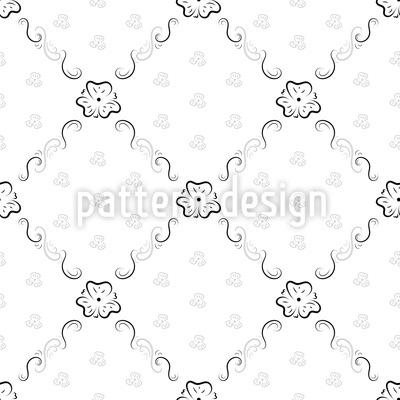 Süße Eleganz Nahtloses Vektor Muster