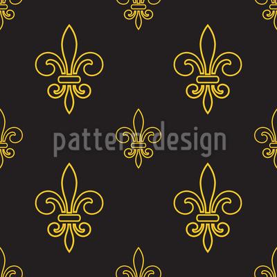 Golden Times Vector Pattern