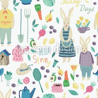 Kaninchen Garten Vektor Design